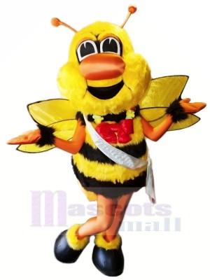 Schlacht Biene mit rot Bogen Maskottchen Kostüme Tier