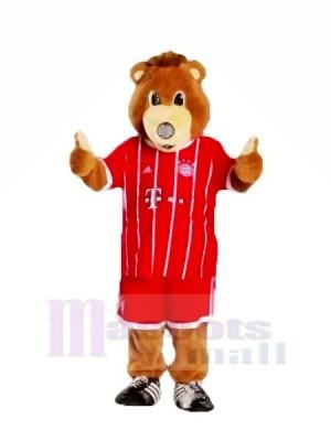 Bayern München Bär mit rot Kleider Maskottchen Kostüme Tier