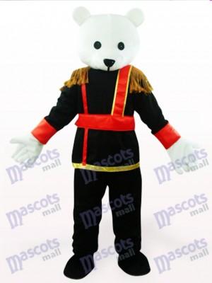 Schwarzweiss männliches Teddybär Anime Maskottchen Kostüm