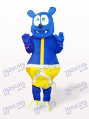 Blauer Bär Monster süß Cartoon Maskottchen Kostüm