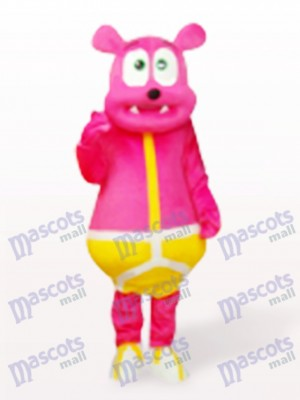 Rosa Bär Monster Cartoon Maskottchen Kostüm