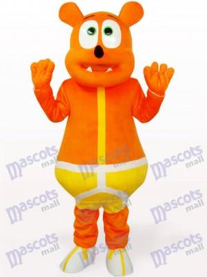 Gelber Bär Monster Tier Maskottchen Kostüm