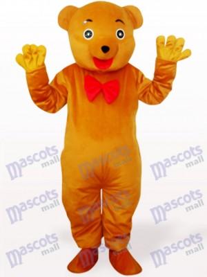 Bräunlich Gelbbär Plüsch Adult Maskottchen Kostüm