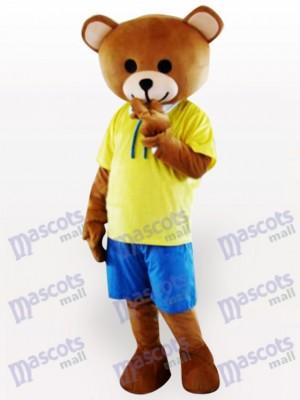 Teddybär Maskottchen Kostüm für Erwachsene