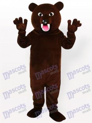 Dunkelbraunes Bären Maskottchen Kostüm