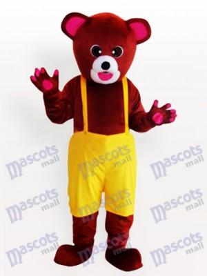 Braunbär in Biboveralls Lustiges Maskottchen Kostüm