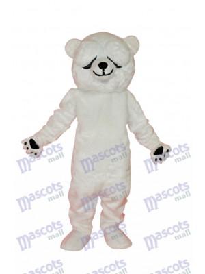 Einfaches und ehrliches Eisbären Maskottchen Kostüm Tier