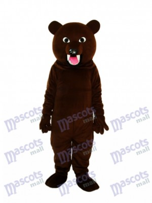 Große graue schwarzer Bär Zahn Maskottchen Erwachsene Kostüm Tier