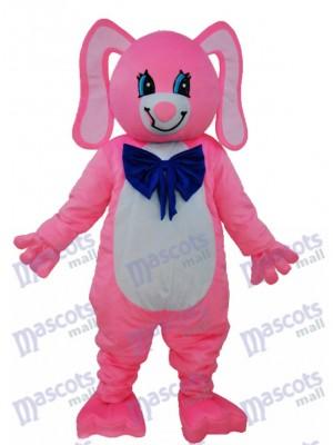 Langes Ohr Rosa Bären Maskottchen erwachsenes Kostüm Tier