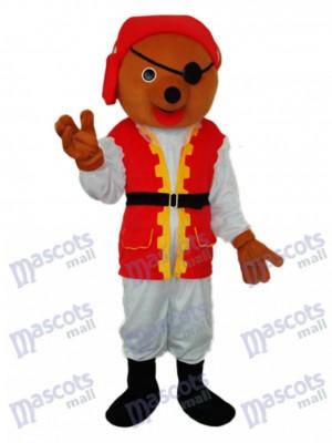 Piratenbär Maskottchen Kostüm für Erwachsene Tier