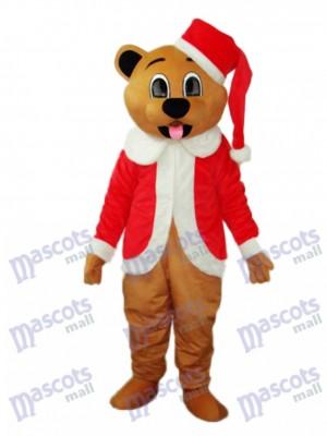 Brown Weihnachtsbären Maskottchen erwachsenes Kostüm Tier