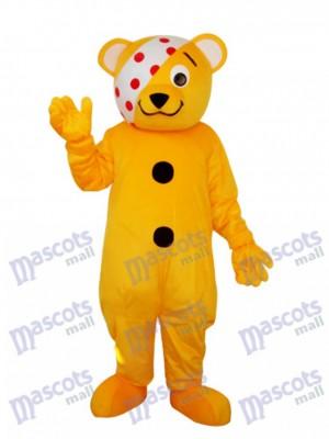 Bär mit Augenklappe Maskottchen Erwachsene Kostüm Tier