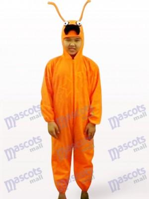 Orange Ameise Open Face Kinder Insekt Maskottchen Kostüm