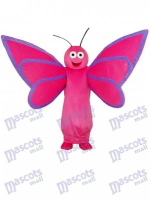 Rosa Schmetterling Maskottchen Erwachsenen Kostüm Insekt