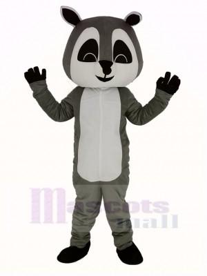 Grau Waschbär Maskottchen Kostüm Erwachsene