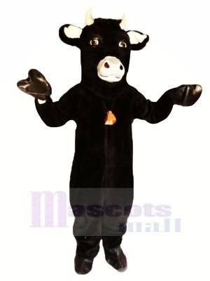 Schwarz Pelzig Stier Maskottchen Kostüme Tier