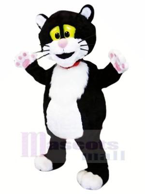 Schwarz und Weiß Katze mit Rosa Nase Maskottchen Kostüme Tier