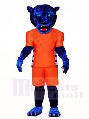 Blau Panther Maskottchen Kostüme Tier