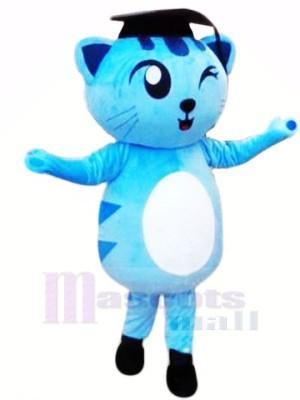 Zwinkert Blau Katze Maskottchen Kostüme Tier