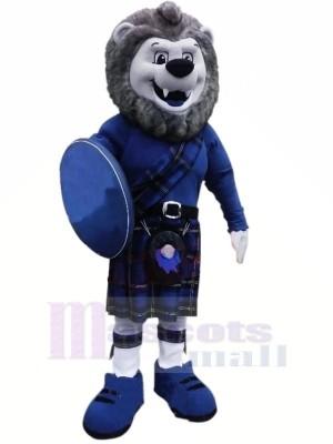 Grau Löwe mit Blau Passen Maskottchen Kostüme Tier
