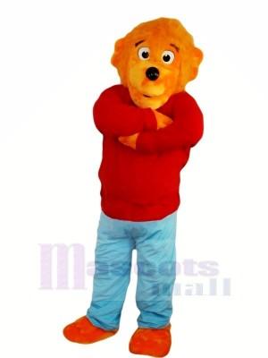 Lustig Löwe mit rot Sweatshirt Maskottchen Kostüme Tier