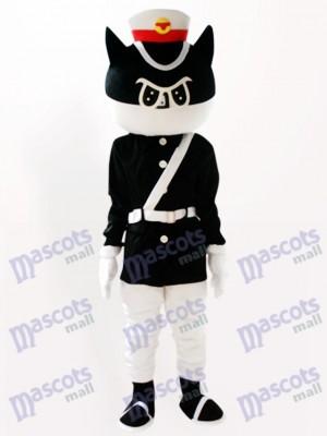 Schwarze Katze Detektiv Cartoon Adult Maskottchen Kostüm