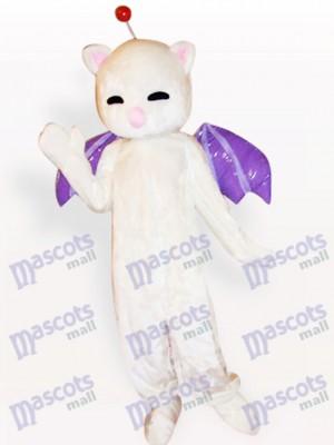 Rosa Nase weiße Katze Tier Maskottchen Kostüm für Erwachsene