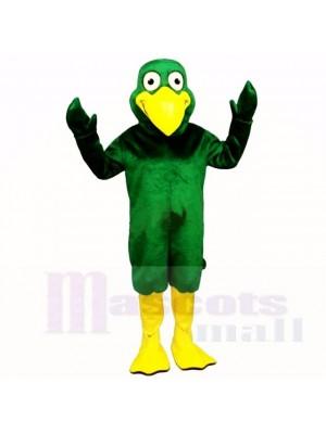 Lächelnd Grün Vogel Maskottchen Kostüme Karikatur