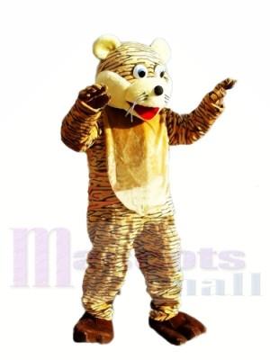 Glücklicher Tiger Maskottchen Kostüm für Erwachsene Kostenloser Versand