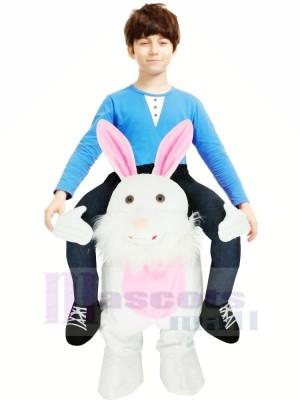 Tragen Mich Ostern Hase Schweinchen Zurück Maskottchen Kinder Reiten Auf Komisch Schick Kleid Kostüm