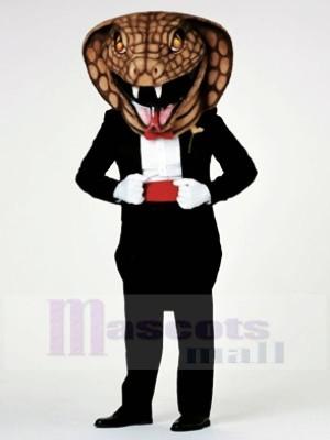 Gentleman Kobra Schlange Maskottchen Kostüme