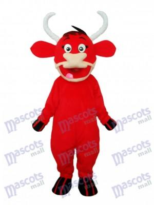 Red Cow Maskottchen Adult Kostüm Tier