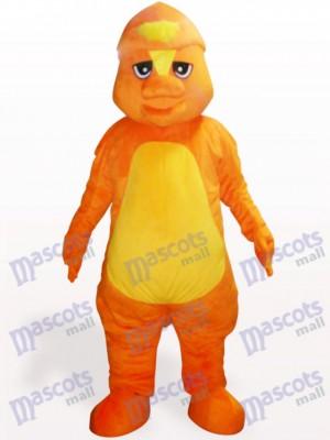 Gelbes Dinosaurier Maskottchen Kostüm für Erwachsene