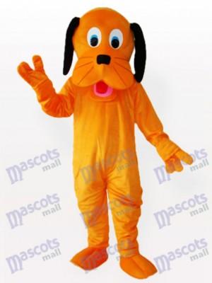 Schwarze Ohren Orange Hund Maskottchen Lustiges Kostüm