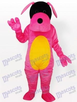 Rosa Hund Maskottchen Kostüm für Erwachsene