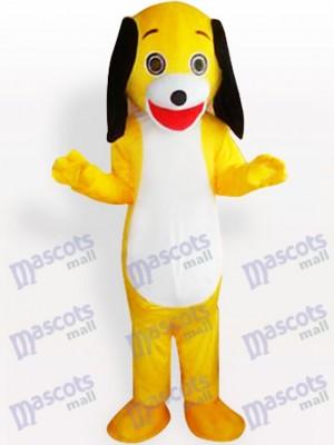 Gelbes kleines Hundeerwachsenes Maskottchen Kostüm