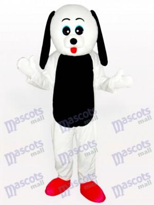 Schwarzer Bauch Hund Maskottchen Kostüm