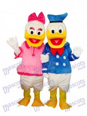 Donald Duck Paar Maskottchen Erwachsene Kostüm Cartoon Anime