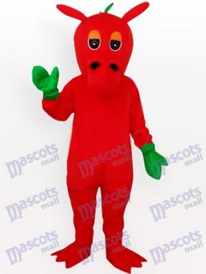 Roter Drache mit grünem Mitts Maskottchen Kostüm für Erwachsene
