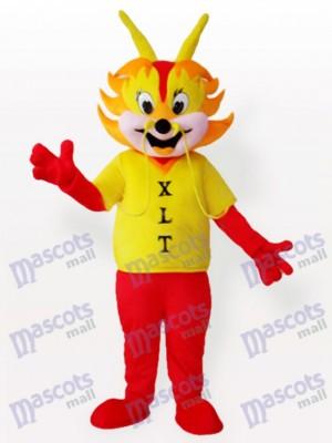 Gelber Drache Mann Maskottchen Kostüm für Erwachsene