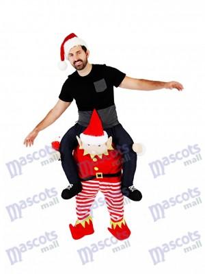 Huckepack Elf Carry Me Fahrt auf Red Elf Maskottchen Kostüme chipmunks kostüm, huckepack kostüm selber machen