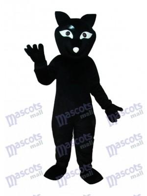 Schwarze Fox Maskottchen Erwachsene Kostüm Tier