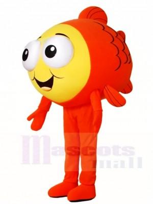 Orange Fisch Maskottchen Kostüme Meer Ozean