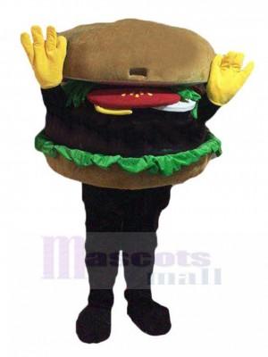 Hände hoch Hamburger Maskottchen Kostüm