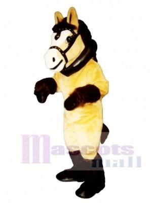 Clyde Clydesdale Pferd mit Halsband & Harness Maskottchen Kostüm