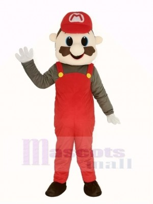 Super rot Mario Maskottchen Kostüm Karikatur