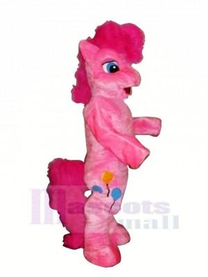 Rosa Pony Pferd Maskottchen Kostüme Karikatur