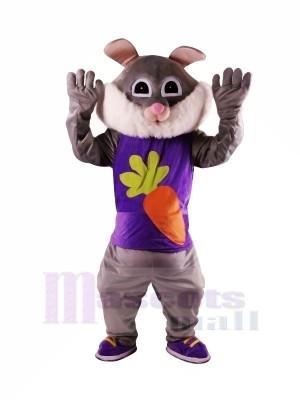 Ostern Grey Rabbit mit großem Augen-Maskottchen kostümiert Tier
