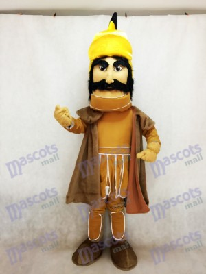 Trojan Warrior Maskottchen Kostüm mit einem Mantel
