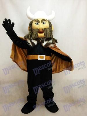 Thor das Riesen-Wikinger-Maskottchen-Kostüm mit weißem Helm